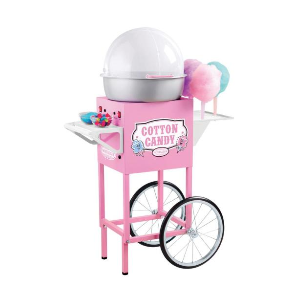 Nostalgia Vintage Old Fashioned Cotton Candy Maker and Cart