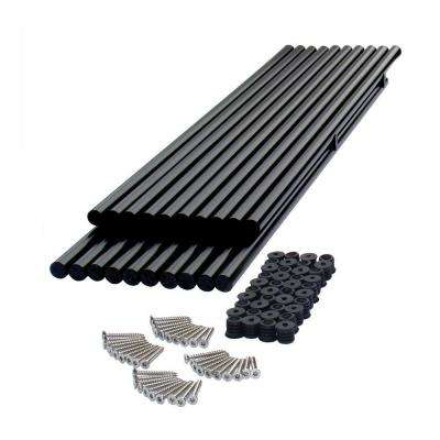 29-1/2 in. Black Round Metal Baluster Kit (20-Pack)