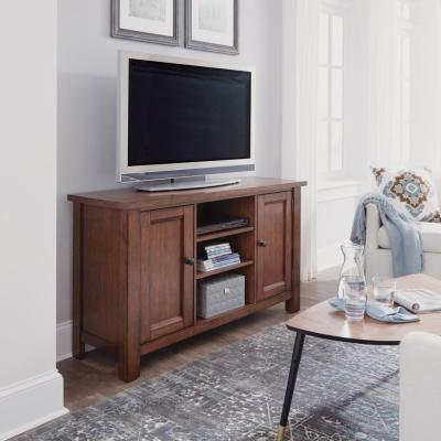 Tahoe 56 in. Aged Maple Wood TV Stand Fits TVs Up to 60 in. with Storage Doors