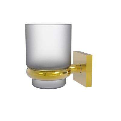 Montero Collection Wall Mounted Tumbler Holder in Polished Brass