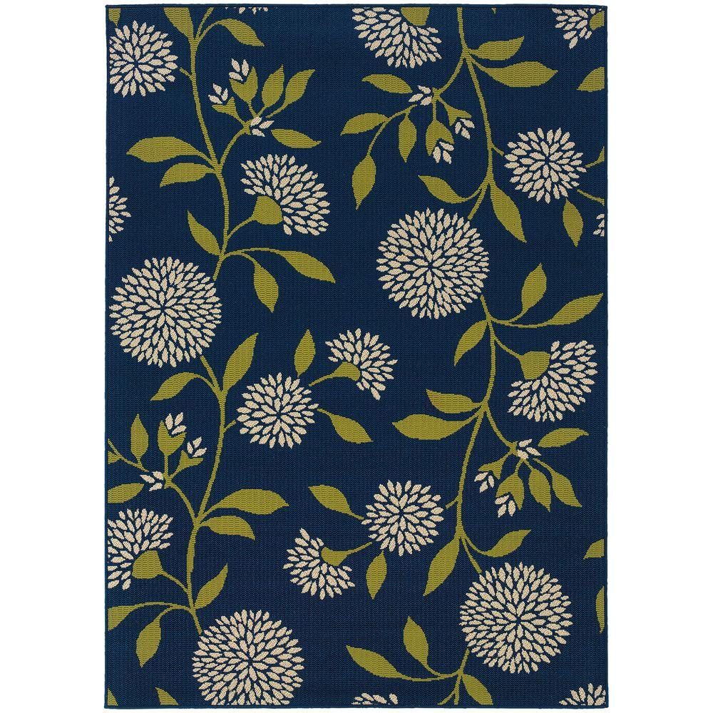 Home Decorators Collection Aster Navy 5 Ft. X 8 Ft. Area Rug