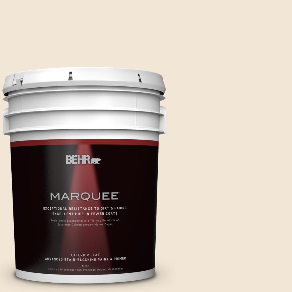 BEHR MARQUEE 5-gal. #W-B-220 Vanilla Delight Flat Exterior Paint