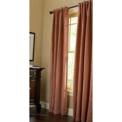 Thermal Tweed Room Darkening Window Panel in Cinnamon Stick - 50 in. W x 95 in. L