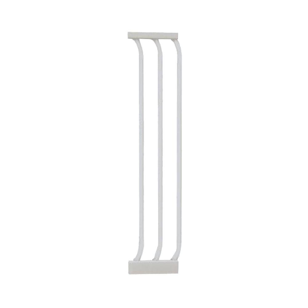 7 in. Gate Extension for White Chelsea Standard Height Child Safety