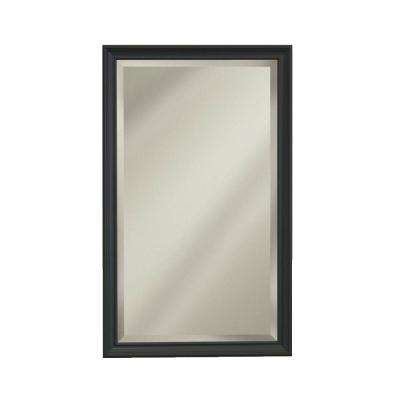 Studio V 15 in. W x 25 in. H x 5 in. D Recessed/Surface-Mount Bathroom Medicine Cabinet with Bronze Frame