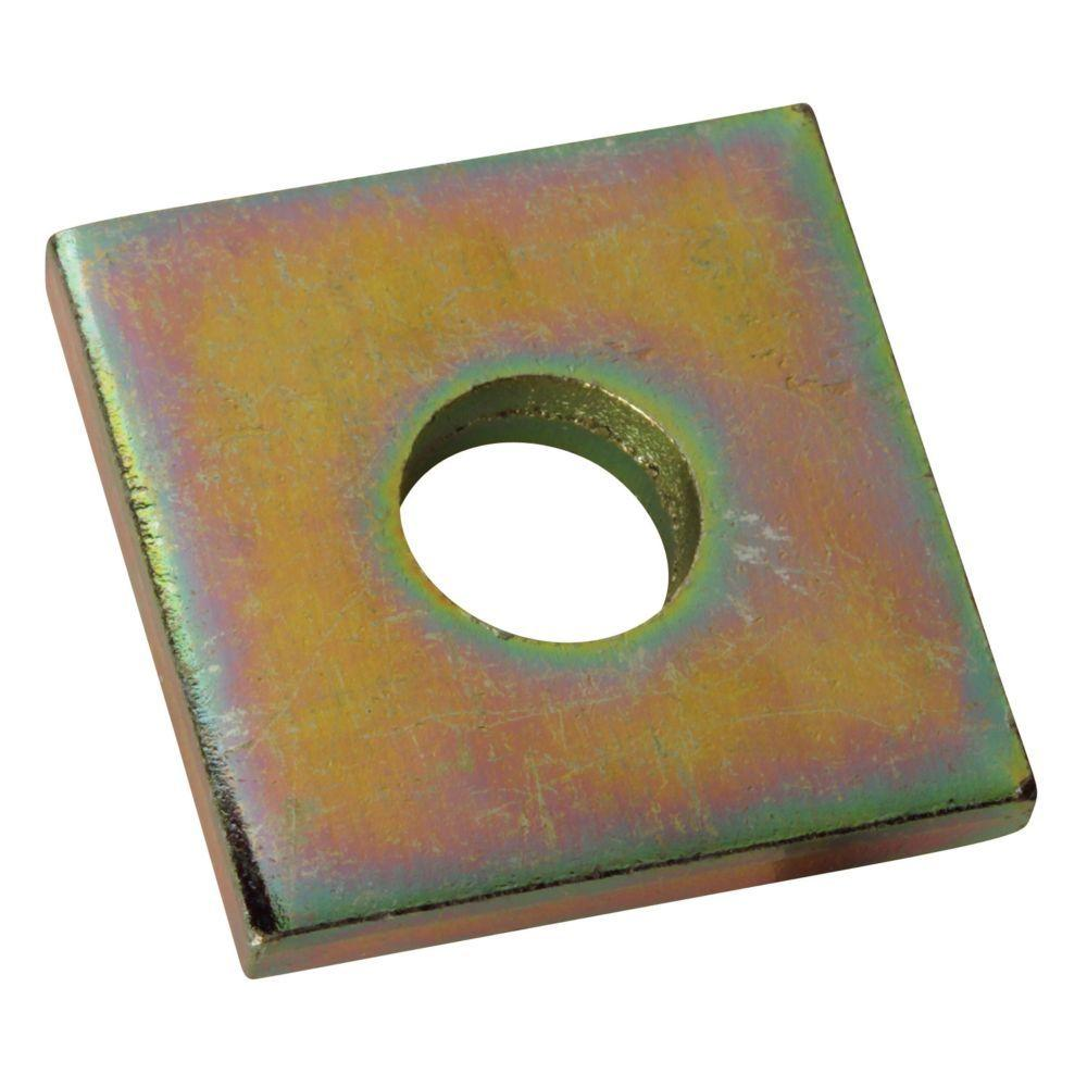 1/2 in. Square Washer - Gold Galvanized (5-Pack)