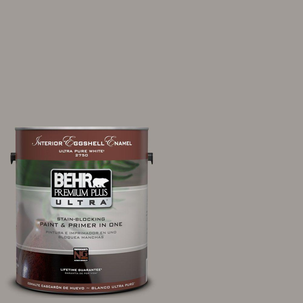BEHR Premium Plus Ultra 1-Gal. #UL260-6 Fashion Gray Interior Eggshell Enamel Paint
