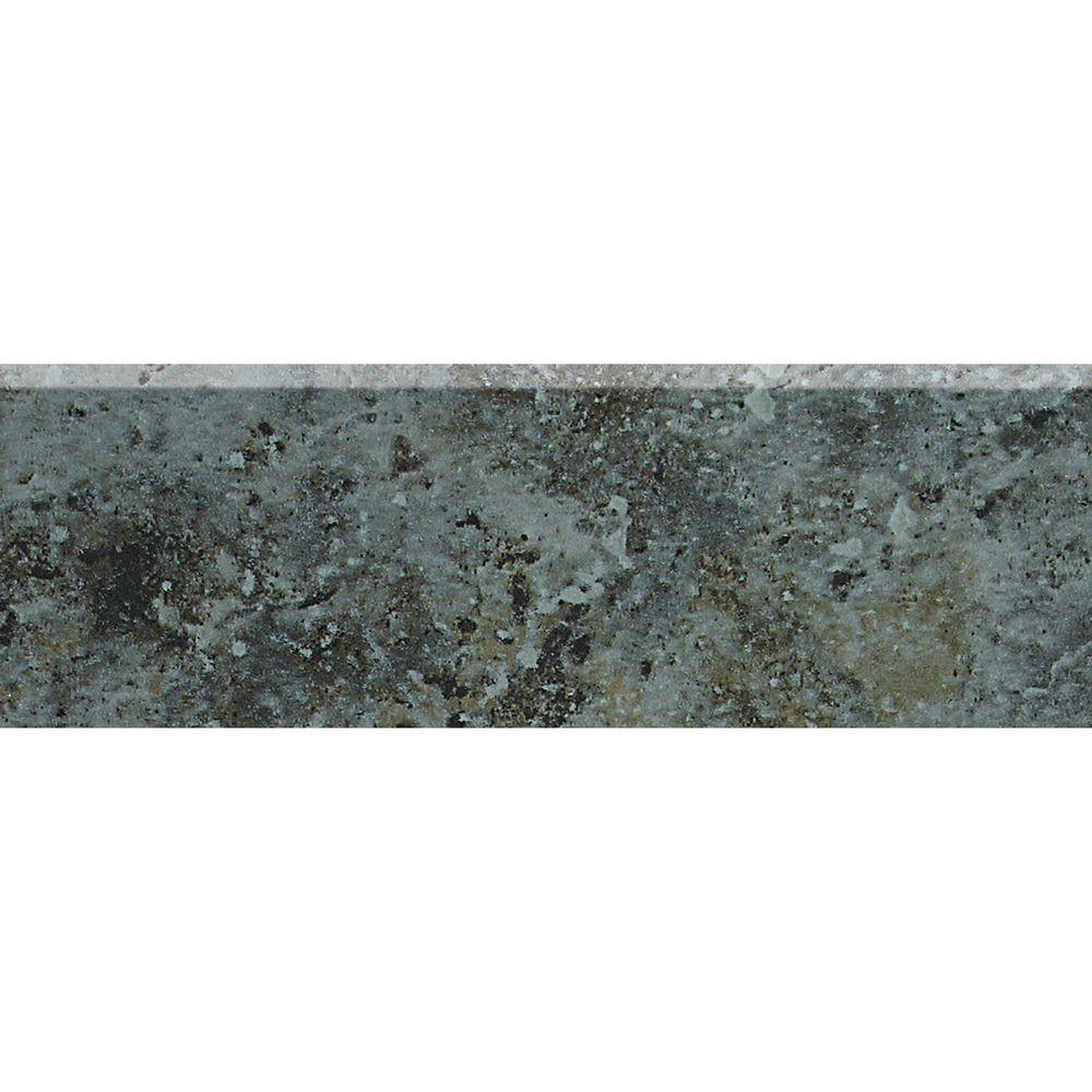 Daltile Heathland Ashland 2 in. x 6 in. Glazed Ceramic Bullnose Wall Tile