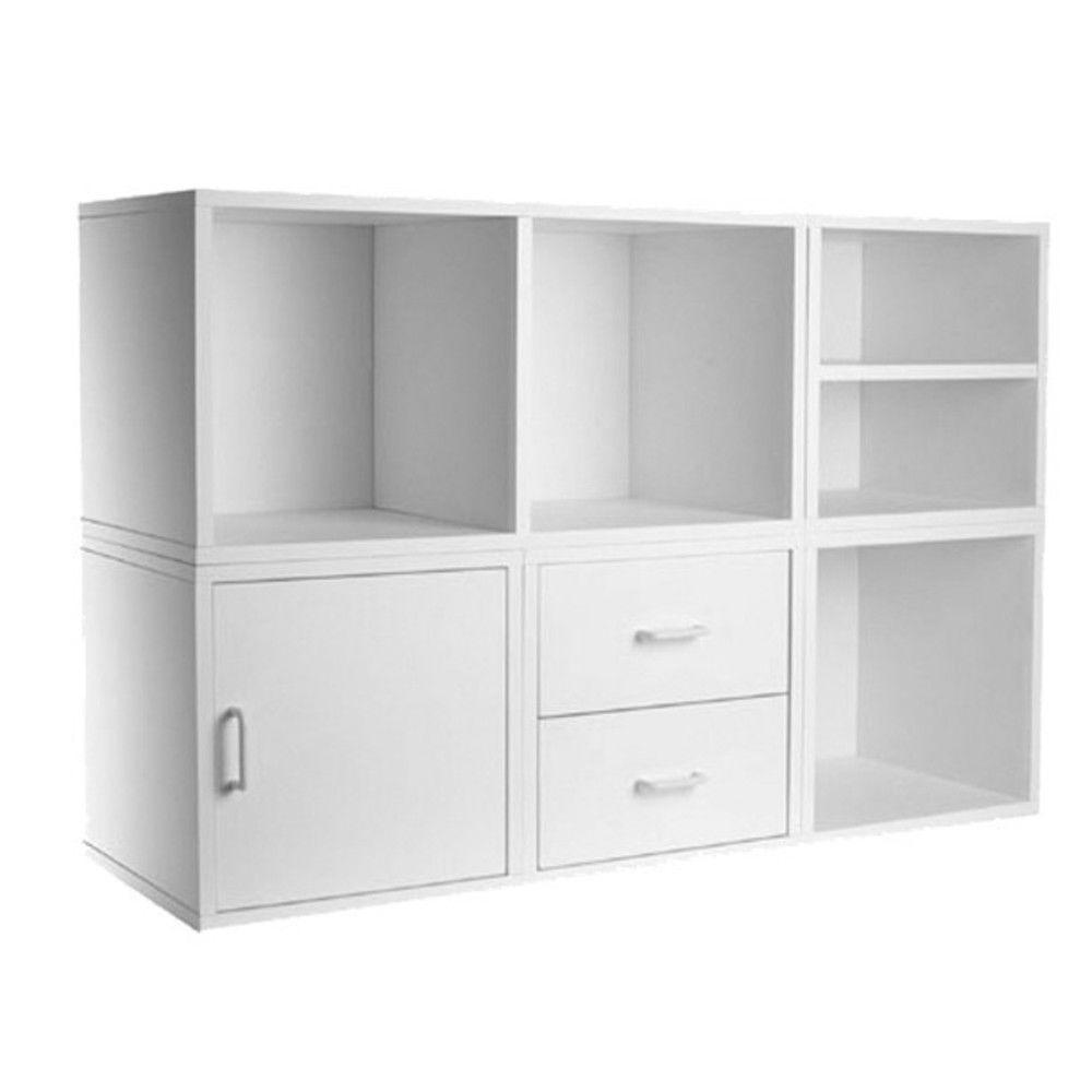 White 5-in-1 Modular Storage System