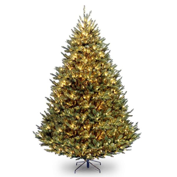 National Tree Company 9 ft. Natural Fraser Medium Fir Hinged Tree with 1200 Clear Lights