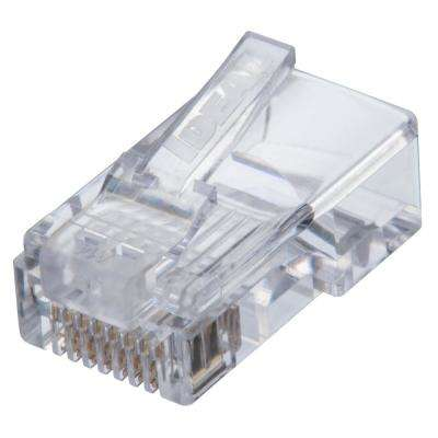 Cat5e Feed-Thru RJ-45 Modular Plug (25-Pack)