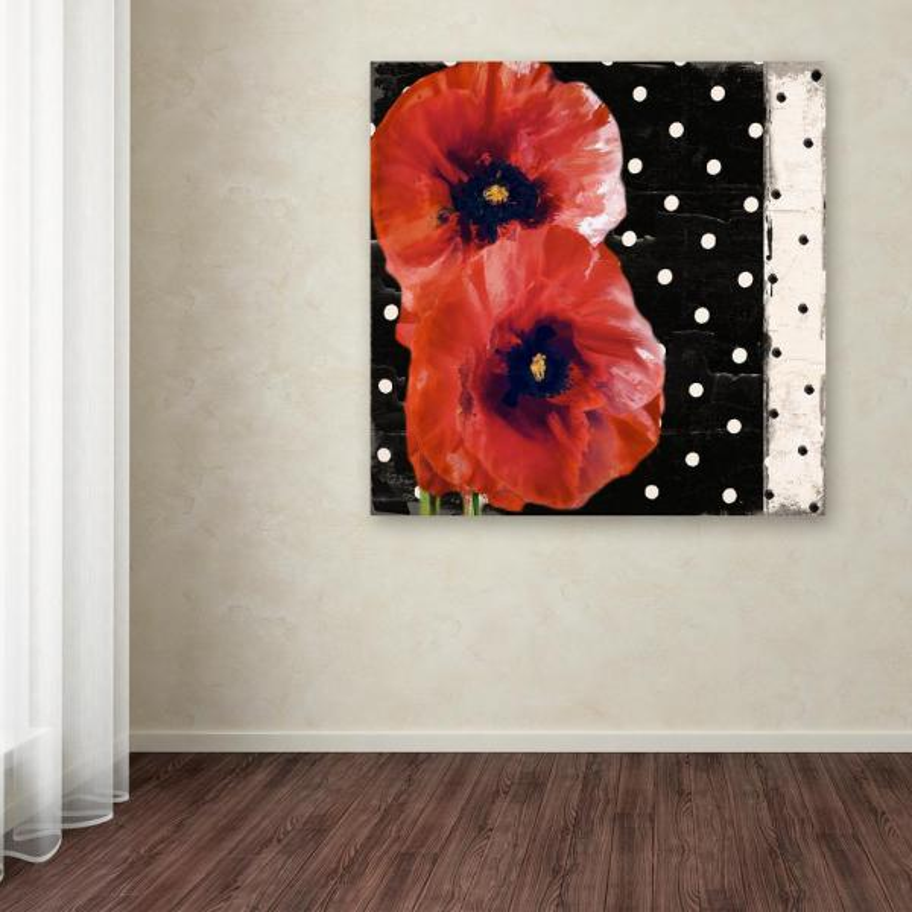 Trademark Fine Art 18 in. x 18 in. ''Scarlet Poppies II''