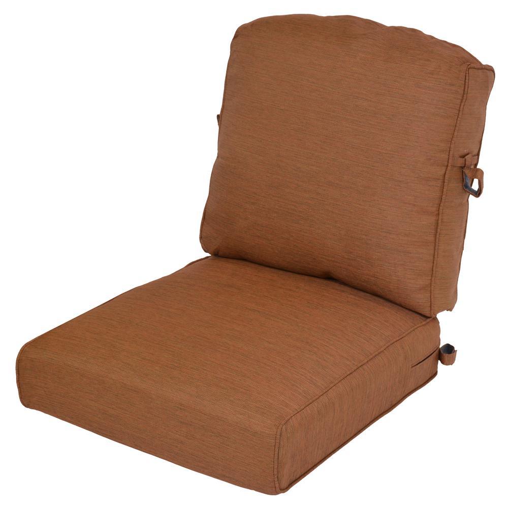 Cashew 2-Piece Deep Seating Outdoor Lounge Chair Cushion