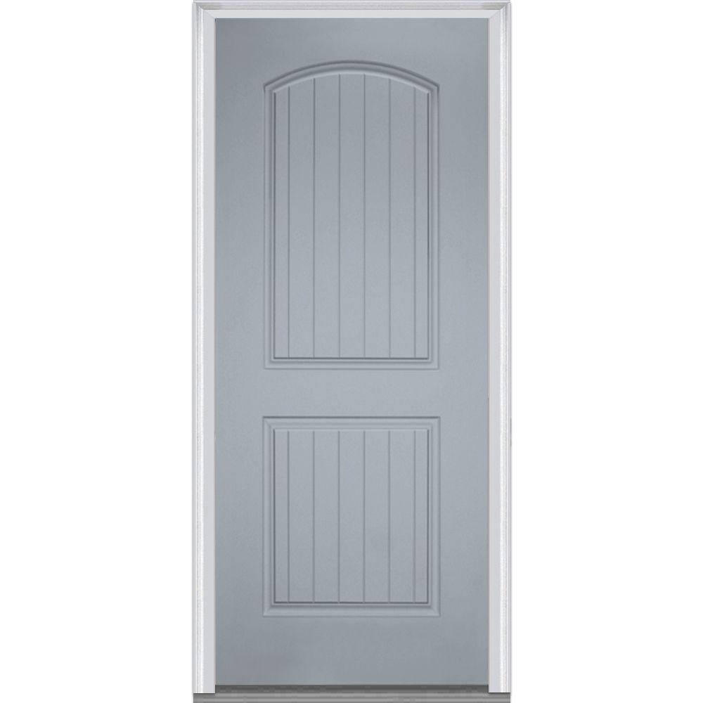 Mmi door 36 in x 80 in right hand inswing 2 panel for Prehung exterior doors with storm door