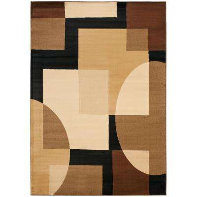 Porcello Black/Multi 8 ft. x 11 ft. Area Rug