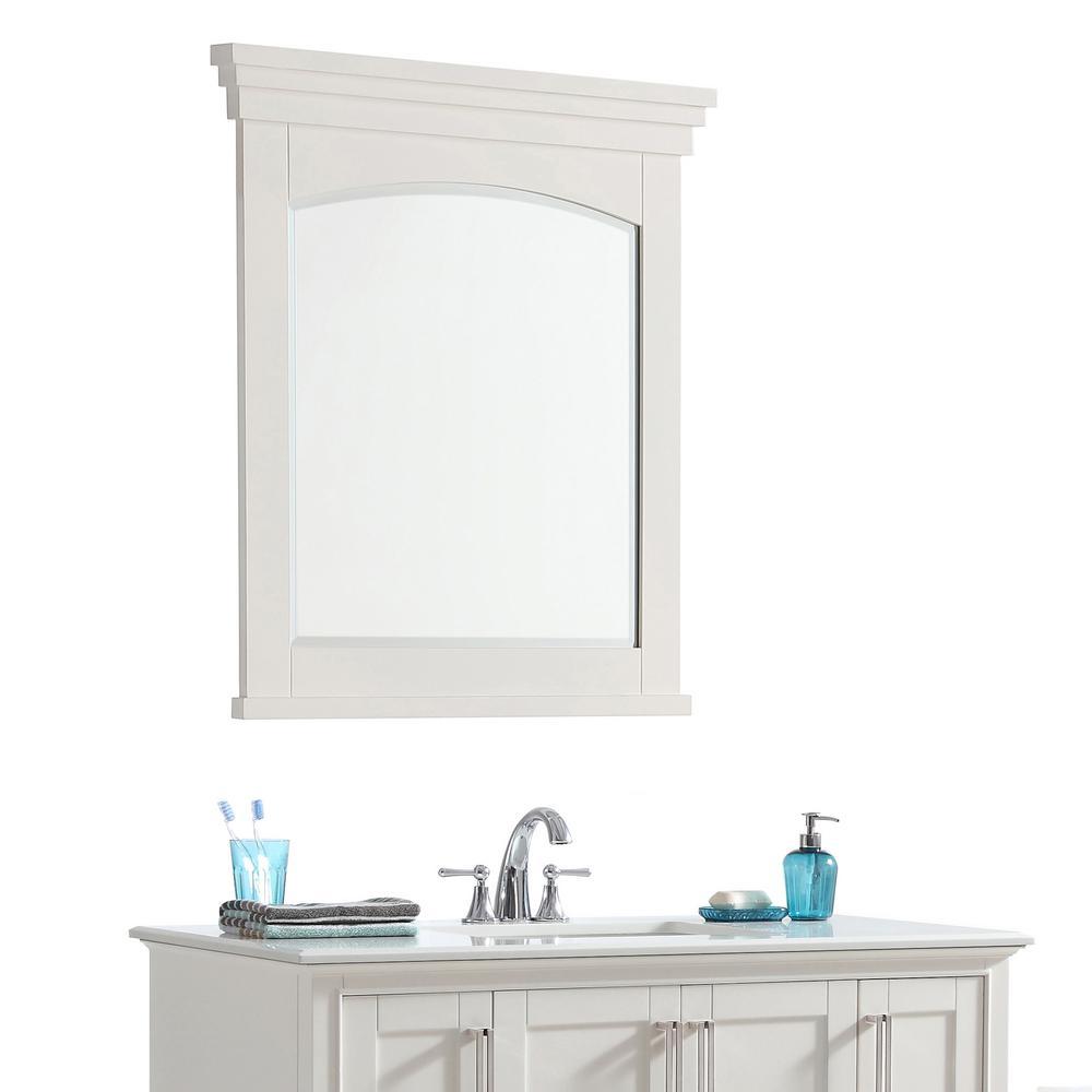 Elise 30 In X 34 Bath Vanity Mirror Soft White