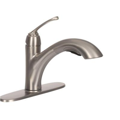 Cantara Single-Handle Pull-Out Sprayer Kitchen Faucet in Stainless Steel