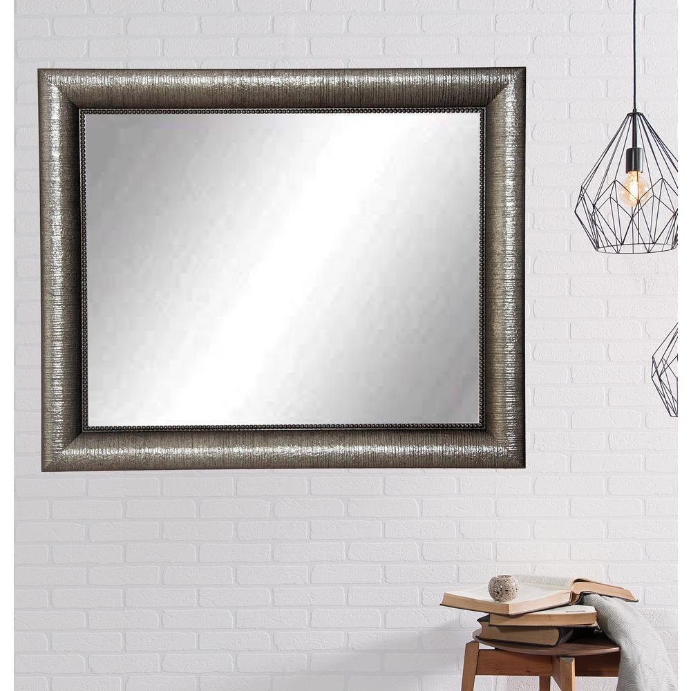 Silver Metallic Glam Framed Mirror