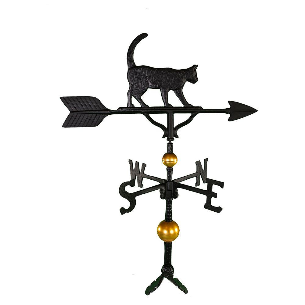 32 in. Deluxe Black Cat Weathervane