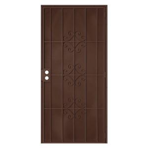 Unique Home Designs 36 in. x 80 in. Del Flor Copper Surface Mount ...