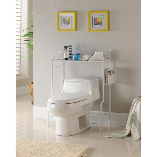 Kings Brand Furniture White Freestanding Etagere Bathroom
