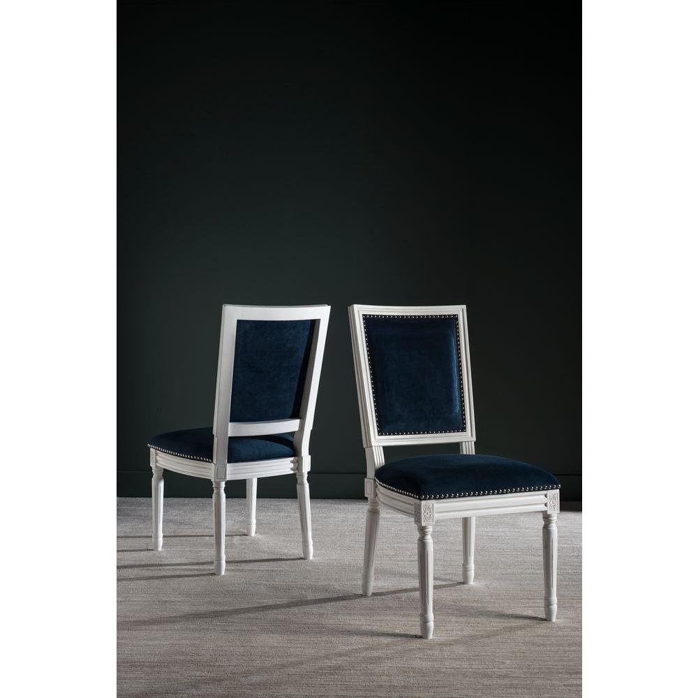 Safavieh Buchanan Navy Velvet Dining Chair