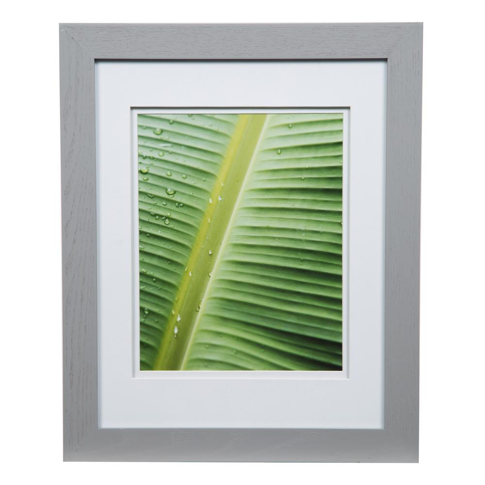Pinnacle Gallery 8 In X 10 In Gray Double Mat Picture Frame