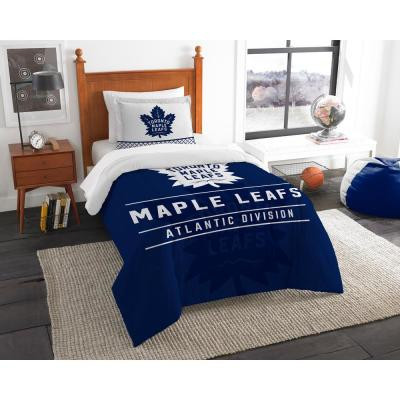 Maple Leafs Draft 2-Piece Multi-Color Polyester Twin Comforter Set