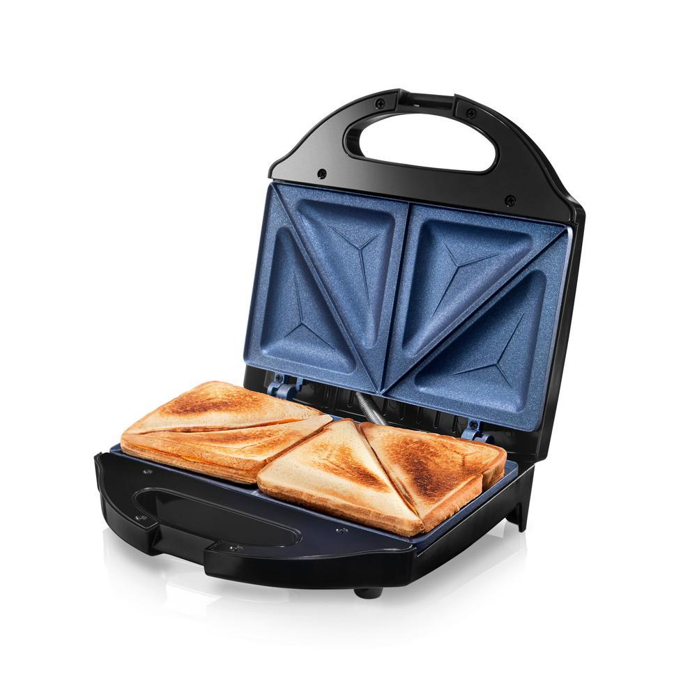 Classic Blue Non-Stick Diamond Infused Sandwich Maker