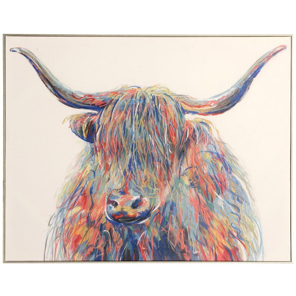 StyleCraft Farmhouse Gold Canvas, Wood Framed Wall Art, Ivory was $209.85 now $65.52 (69.0% off)