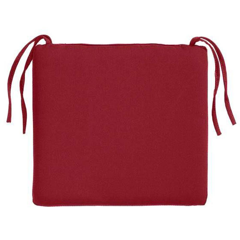 Home Decorators Collection Sunbrella Jockey Red Rectangular Outdoor Seat Cushion