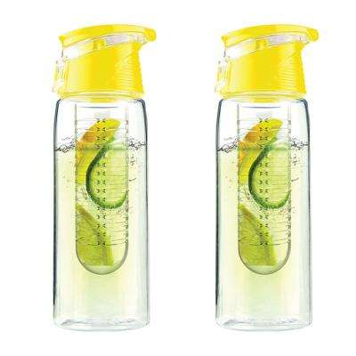 Pure Flavor 2 Go 20 oz. Yellow Water Bottle (2-Pack)