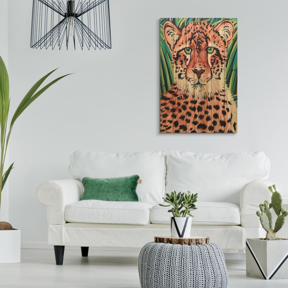 "36 in. x 24 in. ""Wild Beauties 2"" Arte de Legno Digital Print on Solid Wood Wall Art"