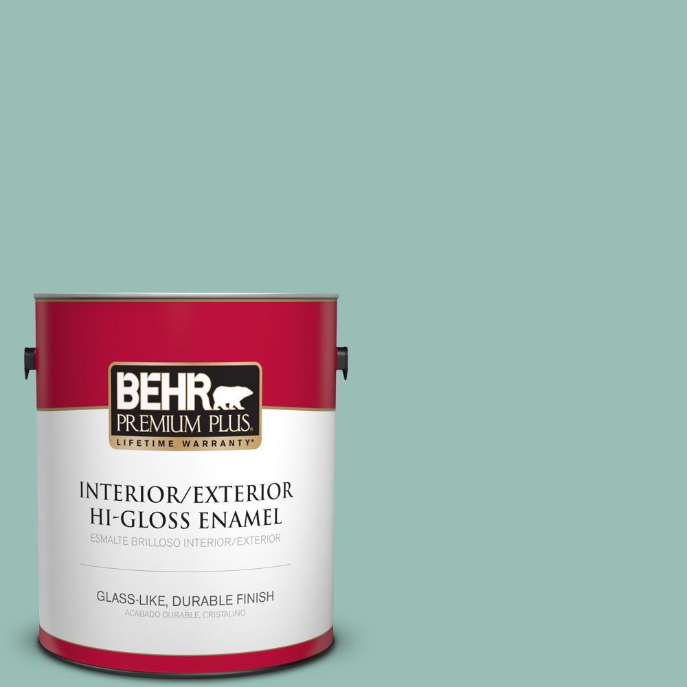 1 gal. #PPU12-07 Spring Stream Hi-Gloss Enamel Interior/Exterior Paint