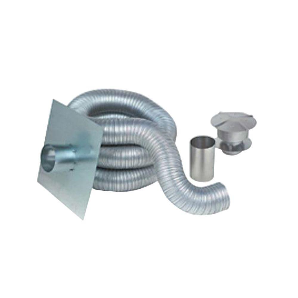 Z Flex 6 In X 35 Ft Gas Aluminum Chimney Liner Kit