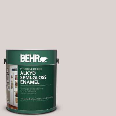 1 gal. #780A-2 Smoked Oyster Semi-Gloss Enamel Alkyd Interior/Exterior Paint