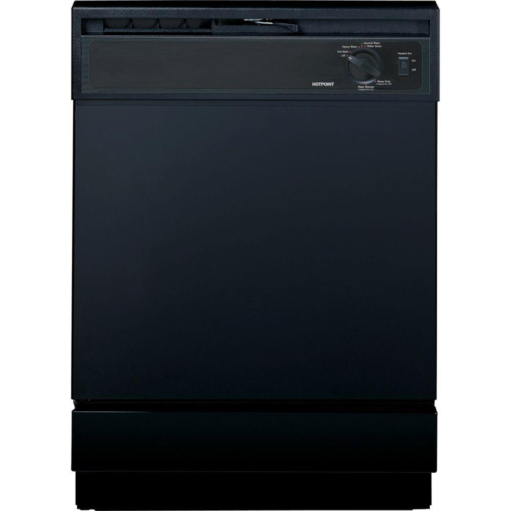 Hotpoint Front Control Dishwasher in Black