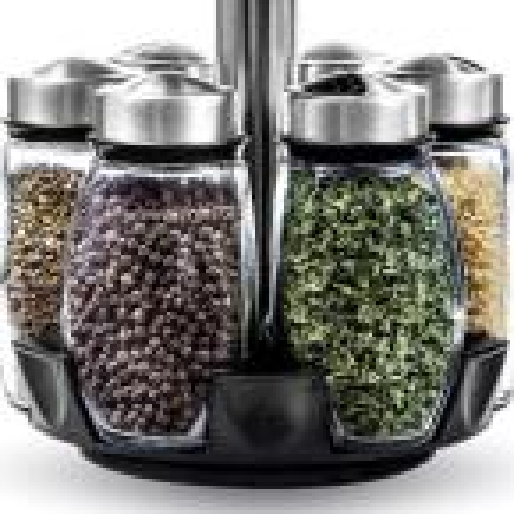 Belwares Spice Jar Rack with 12-Durable Glass Jars