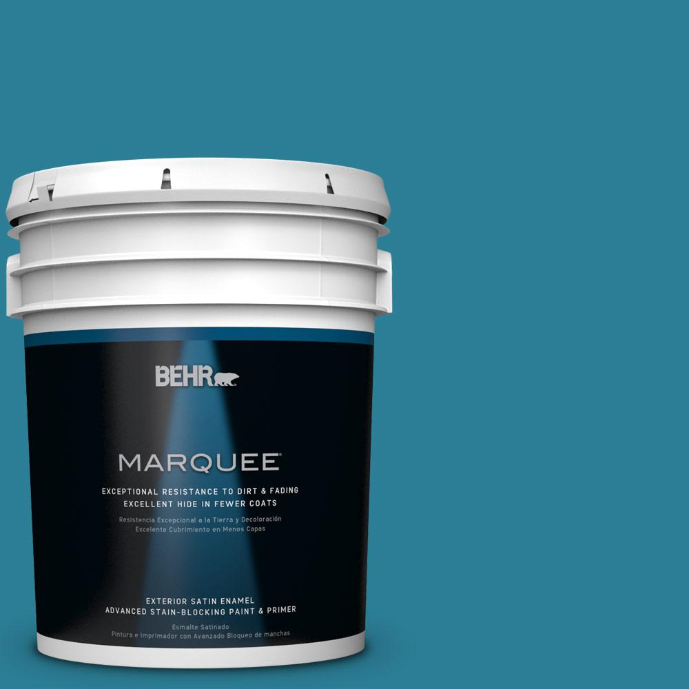 5-gal. #M480-6 Valley of Glaciers Satin Enamel Exterior Paint