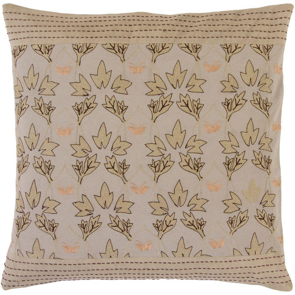 Artistic Weavers LeavesI 18 in. x 18 in. Decorative Down Pillow