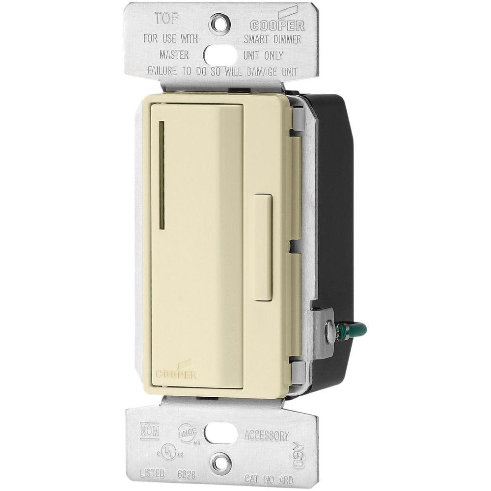 Eaton Accell Smart Dimmer Multi-Location Accessory with 10-Second Delay, Almond