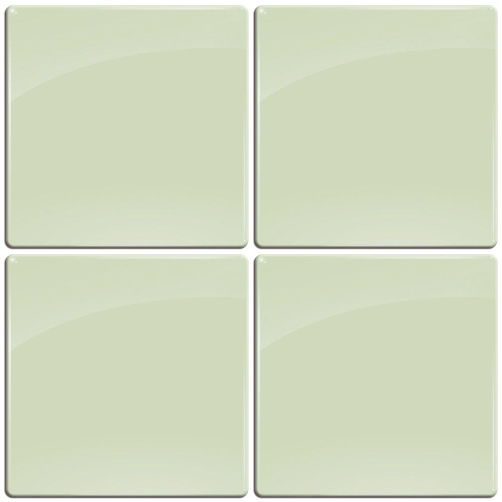 Smart Tiles 3-11/16 in. x 3-11/16 in. Green Lichen Gel Tile Decorative Wall Tile (4-Pack)-DISCONTINUED