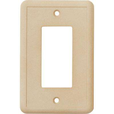 1-GFCI Wall Plate, Travertine