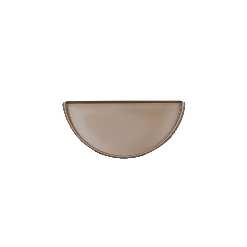 6 in. Half Round Cocoa Brown Aluminum Gutter End Cap