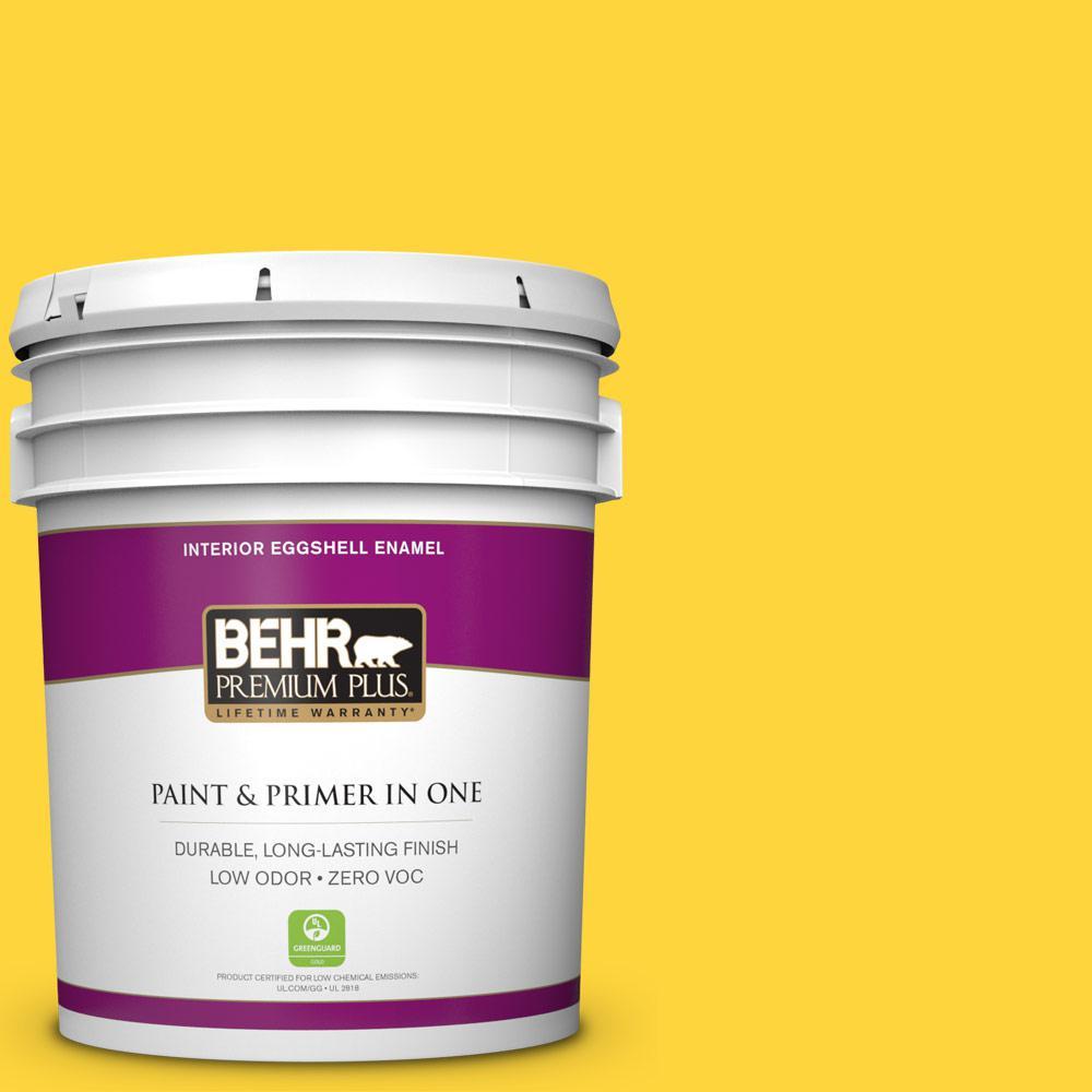 5 gal. #380B-6 Lemon Tart Zero VOC Eggshell Enamel Interior Paint