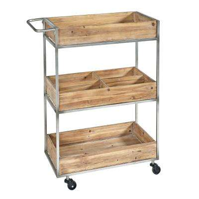 Vista Metal and Wood Cart