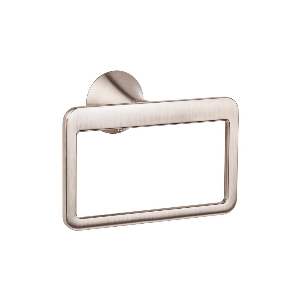 Brea Towel Ring in Brushed Nickel