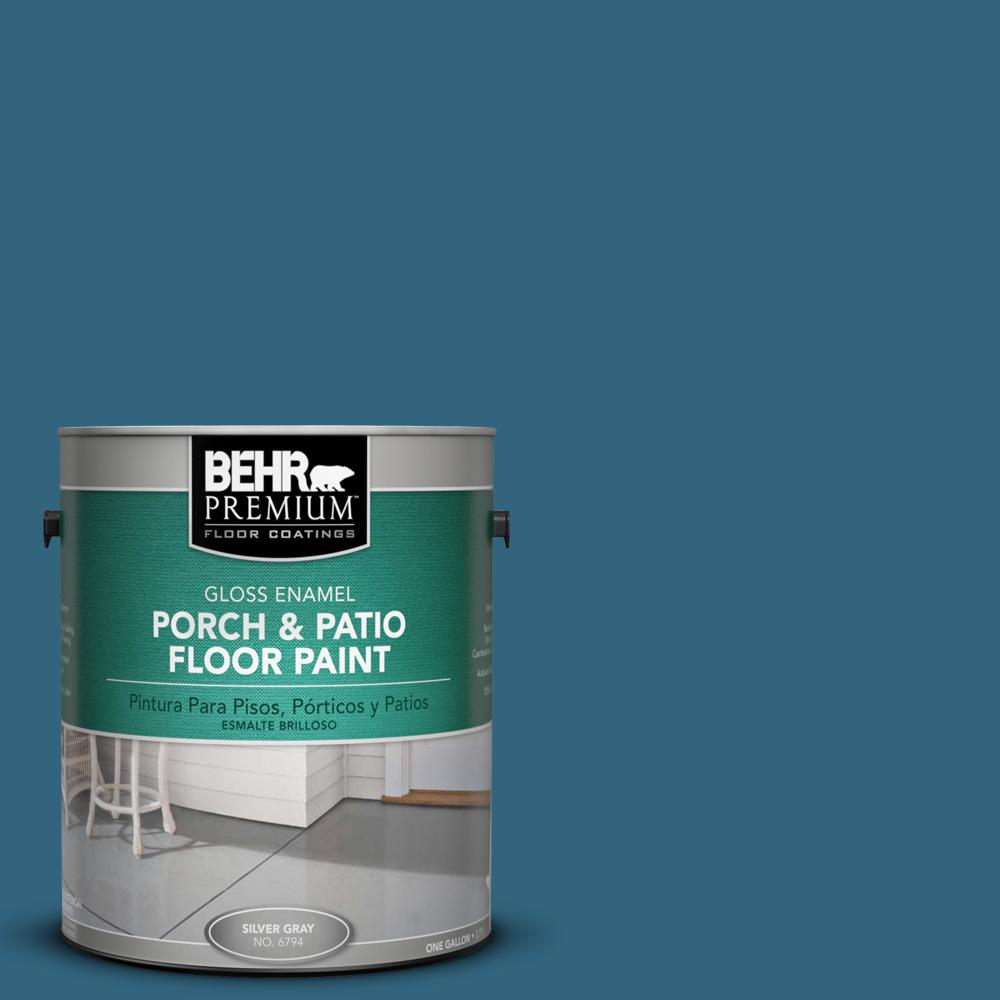 Behr Premium 1 Gal M480 7 Ice Cave Gloss Enamel Interior Exterior Porch And Patio Floor Paint 673001 The Home Depot