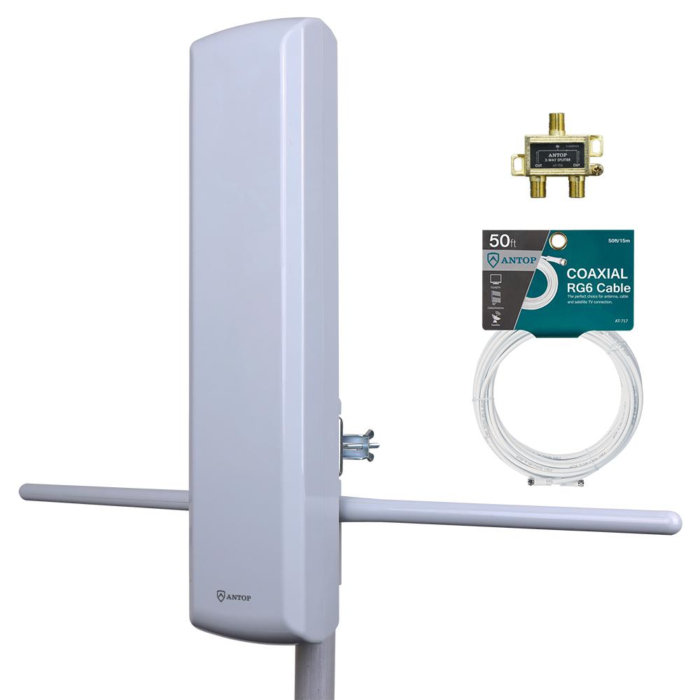 Big Boy Mini Pro 3-Outdoor HDTV Antenna Kit with Splitter and
