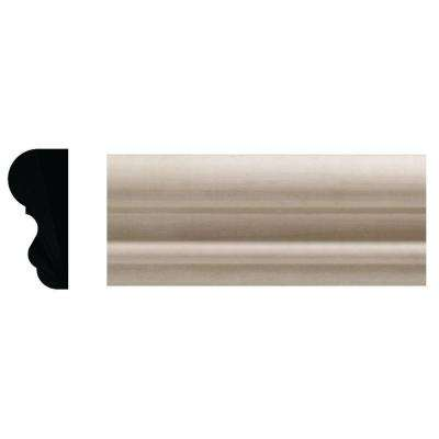 3/4 in. x 1-3/4 in. White Hardwood Colonial Chair Rail Moulding